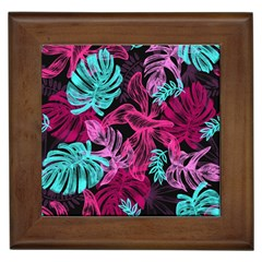 Leaves Framed Tile by Sobalvarro