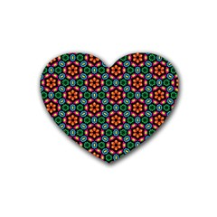 Pattern  Rubber Coaster (heart)  by Sobalvarro