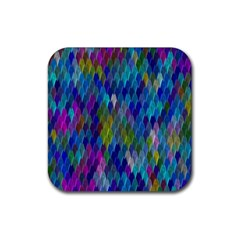 Background  Rubber Square Coaster (4 Pack)  by Sobalvarro