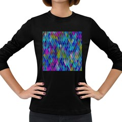 Background  Women s Long Sleeve Dark T-shirt by Sobalvarro