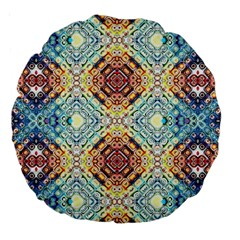 Pattern Large 18  Premium Round Cushions by Sobalvarro