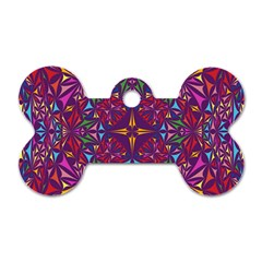 Kaleidoscope  Dog Tag Bone (one Side) by Sobalvarro
