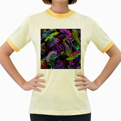 Leaves  Women s Fitted Ringer T Shirt by Sobalvarro