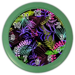 Leaves  Color Wall Clock by Sobalvarro