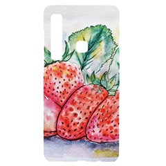 Strawberry Watercolor Figure Samsung A9 Black Uv Print Case