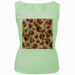 Abstract  Women s Green Tank Top by Sobalvarro