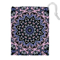 Background Kaleidoscope Abstract Drawstring Pouch (xxxl) by Wegoenart