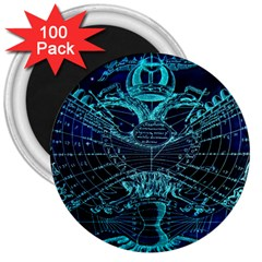 Zodiac Sign Astrology Horoscope 3  Magnets (100 Pack)