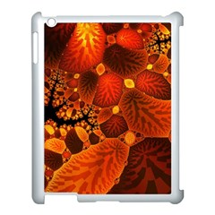 Leaf Autumn Nature Background Apple Ipad 3/4 Case (white) by Wegoenart