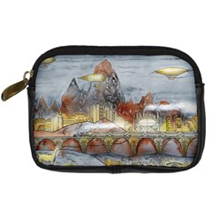 Airships Flight Travel Sky Digital Camera Leather Case