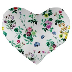 Leaves Large 19  Premium Heart Shape Cushions by Sobalvarro