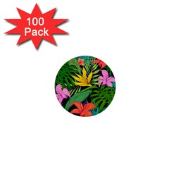 Tropical Greens 1  Mini Buttons (100 Pack)  by Sobalvarro
