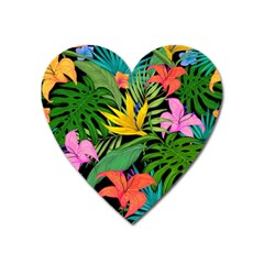Tropical Greens Heart Magnet by Sobalvarro