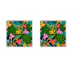 Tropical Greens Cufflinks (square) by Sobalvarro