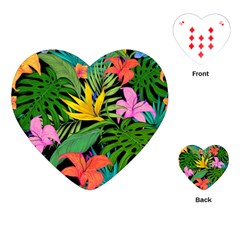 Tropical Greens Playing Cards Single Design (heart) by Sobalvarro