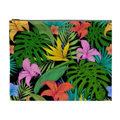 Tropical Greens Cosmetic Bag (xl) by Sobalvarro