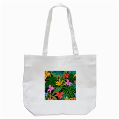 Tropical Greens Tote Bag (white) by Sobalvarro