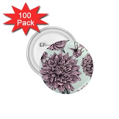 Flowers 1 75  Buttons (100 Pack)  by Sobalvarro