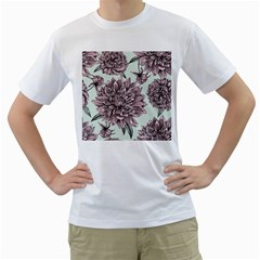 Flowers Men s T-shirt (white) (two Sided) by Sobalvarro