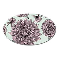 Flowers Oval Magnet by Sobalvarro