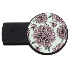 Flowers Usb Flash Drive Round (4 Gb) by Sobalvarro