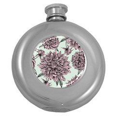 Flowers Round Hip Flask (5 Oz) by Sobalvarro