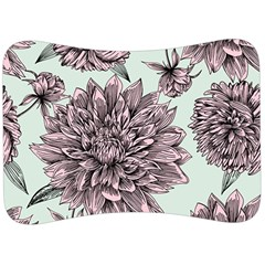 Flowers Velour Seat Head Rest Cushion by Sobalvarro