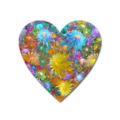 Apo Flower Power  Heart Magnet by WolfepawFractals