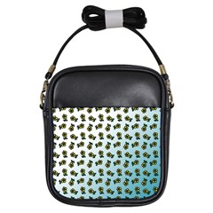 Blue Gradient Flower Girls Sling Bag