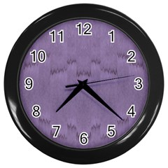 Love To One Color To Love Purple Wall Clock (black) by pepitasart