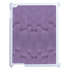 Love To One Color To Love Purple Apple Ipad 2 Case (white) by pepitasart