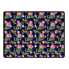 Vintage Can Floral Blue Fleece Blanket (small) by snowwhitegirl