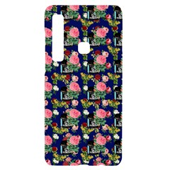 Vintage Can Floral Blue Samsung A9 Black Uv Print Case by snowwhitegirl
