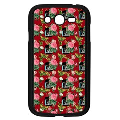Vintage Can Floral Red Samsung Galaxy Grand Duos I9082 Case (black)