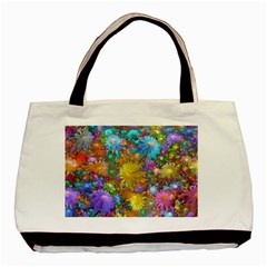 Apo Flower Power Basic Tote Bag (two Sides) by WolfepawFractals