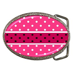 Polka Dots Two Times 2 Black Belt Buckles