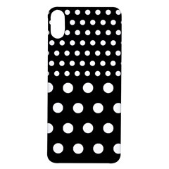 Polka Dots Two Times 11 Black Iphone X/xs Soft Bumper Uv Case