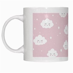 Kawaii Cloud Pattern White Mugs