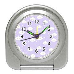 Kawaii Cloud Pattern Travel Alarm Clock