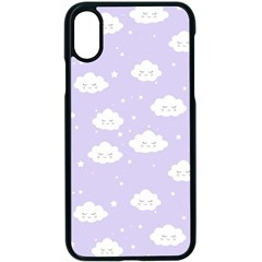 Kawaii Cloud Pattern Iphone X Seamless Case (black)