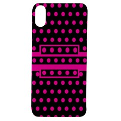 Polka Dots Two Times 8 Black Apple Iphone Xs Tpu Uv Case