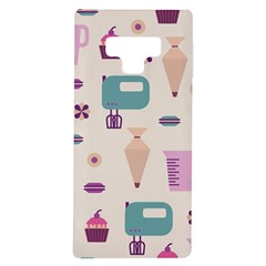 Seamless Bakery Vector Pattern Samsung Galaxy Note 9 Tpu Uv Case