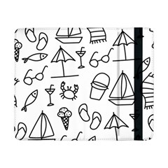 Black And White Summer Vector Pattern Samsung Galaxy Tab Pro 8 4  Flip Case
