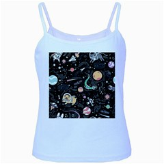 Animals Galaxy Space Baby Blue Spaghetti Tank