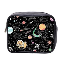 Animals Galaxy Space Mini Toiletries Bag (two Sides)