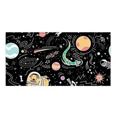 Animals Galaxy Space Satin Shawl by Vaneshart