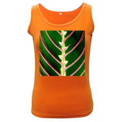 Exotic Green Leaf Women s Dark Tank Top by Vaneshart
