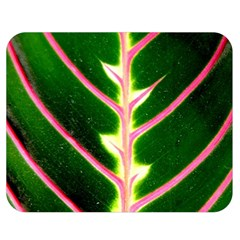 Exotic Green Leaf Double Sided Flano Blanket (medium)