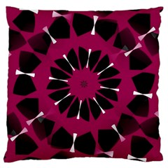 Pink And Black Seamless Pattern Large Cushion Case (one Side) by Vaneshart