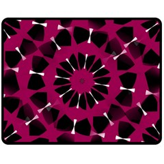Pink And Black Seamless Pattern Double Sided Fleece Blanket (medium)